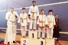 Podium nathaniel médaille de bronze